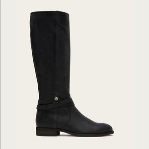 FRYE Melissa Belted Tall Black Boots